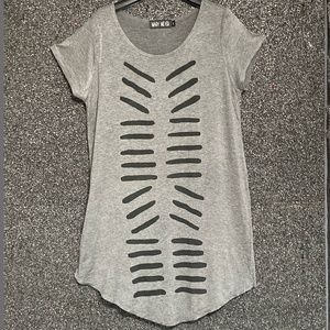 Mary Meyer Screen Printed Tunic in Gray M